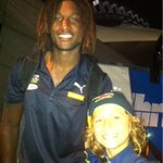 My son Talon got to meet @RealNaitanui at @WestCoastEagles game today! HAPPY KID! Big thanks to @wirra44 !!!! http://t.co/uaqFv0pH1g