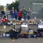 The UHKF #relayforlife fundraising yard sale is underway at 55 Rideau! http://t.co/ZNAm6bjSpg