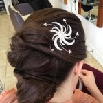 Must be wedding weekend today. Lots of styles going on in the salon! http://t.co/H5KHNjrVA1