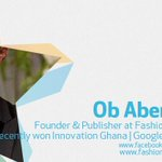 On Stars Gh spotlight today is @Ob Abenser the Founder/Publisher at FashionistaGH https://t.co/ZMArQULIfE http://t.co/MTsXNx51m5