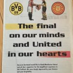 "Newspaper advert Borussia Dortmund took out in The Mirror after they knocked us out in 1997 semi. http://t.co/Wel8v0f6d9"" @Shezza_MUFC"