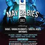 Tonite, MAYBABIES celebrating @DvQue , Brooklyn Knights, Josh Birthdays @Cofi_Brooklyn @TdeepSa http://t.co/QgmhUq0Wz2