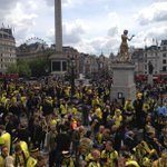 Trafalgar Square is so yellow - http://t.co/f4J4bOJRdq