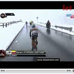 Crazy weather on #giro right now. Where is the global warming, heh!??! http://t.co/aU2Ue1DoxT