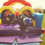 Harvey was having fun in the bouncy castle until he got stuck! #peninsula http://t.co/nD7fEWgAql