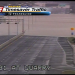 """@ksatweather: Water is covering Hwy 281 at the Quarry (Just north of downtown San Antonio) http://t.co/YXWsQwi5I8"" this is so close to US!!"
