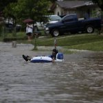 """@MaddySkye: LOL! Typical San Antonio. Taking every opportunity to get our party on. #saflood #saflood2013 http://t.co/Ej3zN48xJ1"""