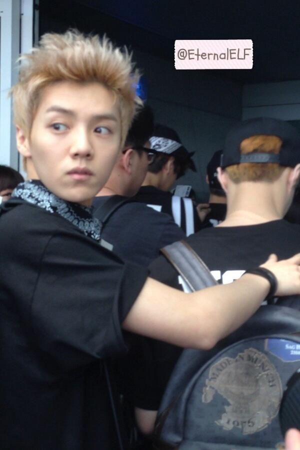 EXO Luhan guarding D.O ICN 130526 http://t.co/ZXPBSwrP4Y