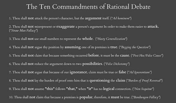 The 10 Commandments of Rational Debate. http://t.co/NtMaEgsyuI