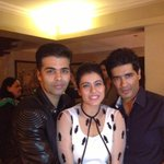 Last night with birthday boy@kjohar25 and our favourite Kajol :-)