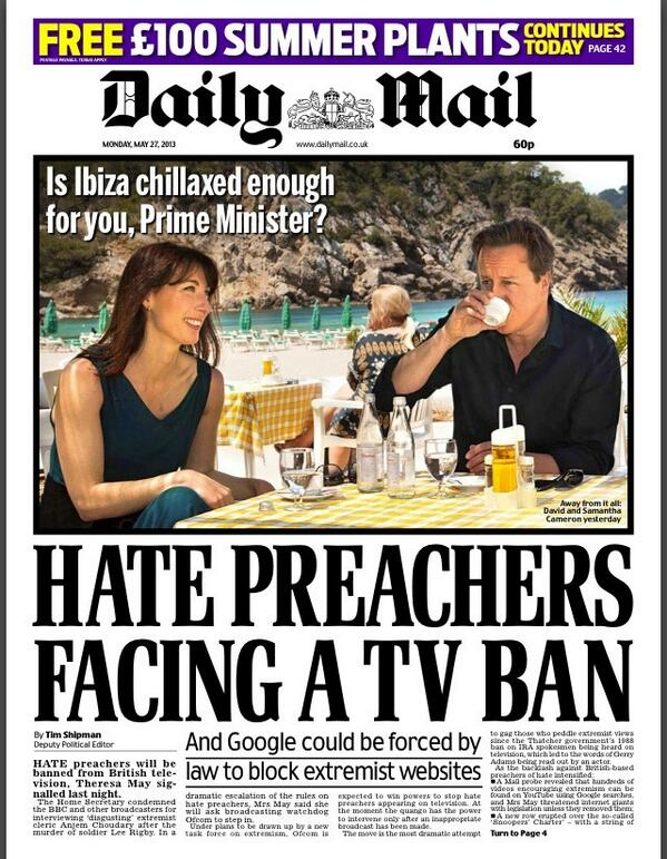 Daily Mail: Hate preachers face a TV ban #tomorrowspaperstoday #bbcpapers http://t.co/jLn0TOoEjD via @hendopolis