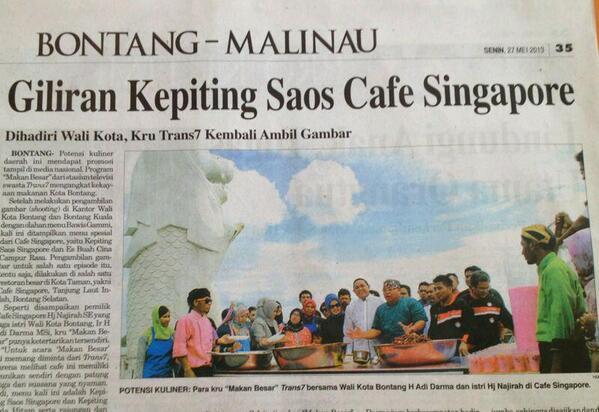Makan Besar TRANS 7 (@makanbesarT7): Masuk koran Bontang http://t.co/9z39wvXZAe