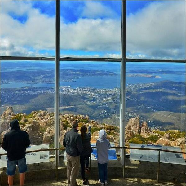 Stunning #Tassie view captured by @walruswhisperer via IG at the #Observatory on #MountWellington. http://t.co/6exhsdFAHr