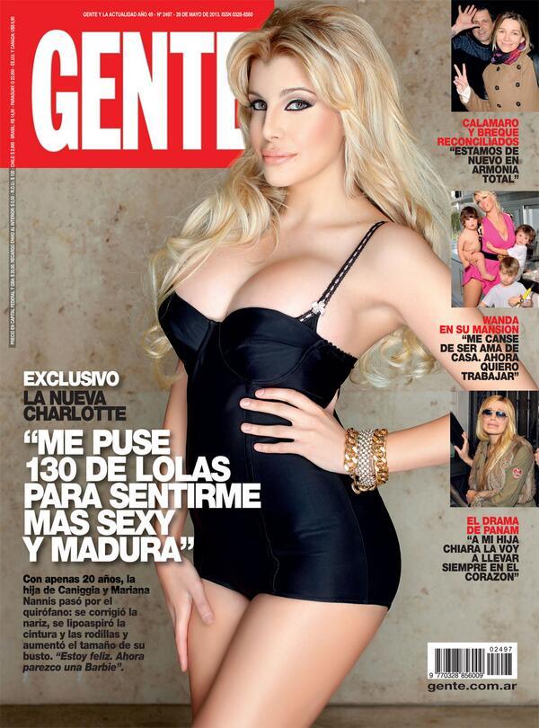 """genteonline: EXCLUSIVO. EN GENTE, LA NUEVA CHARLOTTE: """"ME PUSE 130 DE LOLAS PARA SENTIRME MAS SEXY Y MADURA"""". http://t.co/qAtxWW8yse"""