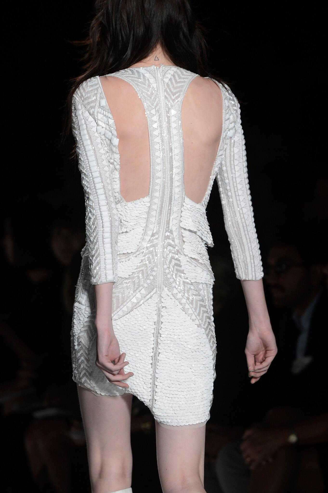 White embellished dress from the #JustCavalli SS 2013 fashion show! http://t.co/Wvq8ngUuz9
