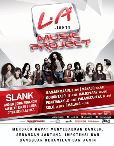 LA MUSIC PROJECT #SlankWangi | 18 JUNI '13 di Aldista Convention Center Gorontalo | HTM: VIP Rp.300rb & FEST Rp.150rb http://t.co/j0VFQqSpB9
