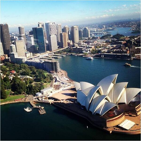 Bird's-eye #view of the #Sydney Opera House...captured by @olenasyd on a #helicopter flight! (Shared via IG) http://t.co/q9f6ZKDaJ3