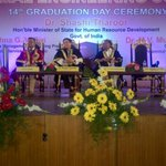 The Convocation stage at the second of my graduation addresses in Chennai today: Velammal Engineering College