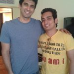 Our chotu RJ Abhay with Aditya Roy Kapoor at the #Soldierforwomen event! http://t.co/G9zStWJ6pv