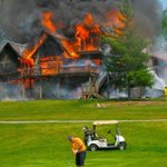 Jimmy's wife escaped their house alive. He made the putt & par on the hole. Divorce now pending.
