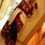 Here's my fav saree pic.. Wore this for a wedding in chennai... Love the colours in it! http://t.co/uQ3jZWGFh1