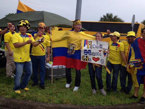 Deutschland-Gegner Ekuador ist schon in Party-Laune! http://t.co/cAzKcwbOTe