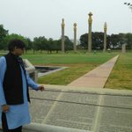 Another view of the Rajiv Gandhi memorial, Sriperumbudur. The inscriptions are unusually lucid, poignant, visionary.