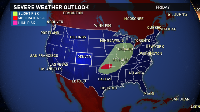 Here's a look at the Friday severe weather outlook. Details and forecast next on #9news #9wx #cowx http://t.co/DeUbiYZGwc