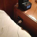 Should be a requirement at every hotel... Electric socket next to the bed! #CellPhone #Pro http://t.co/hCkVL2SMig