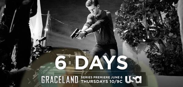 In just six days, Agent Mike Warren will learn what life is like as an undercover agent in #Graceland. http://t.co/EAlUOvZ5ZC