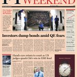 Look at the front page of the Financial Times US edition - 1 June, 2013