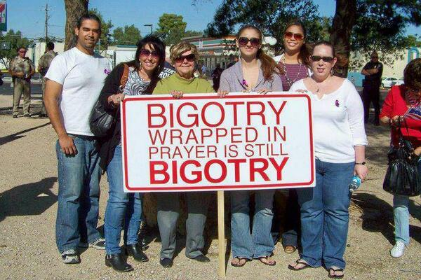 What do you call bigotry wrapped in prayer? http://t.co/bbSXap4eZ1