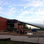 After the OK #tornado MT @Ginger_Zee Wind turbine blade went into a daycare! No children were inside.
