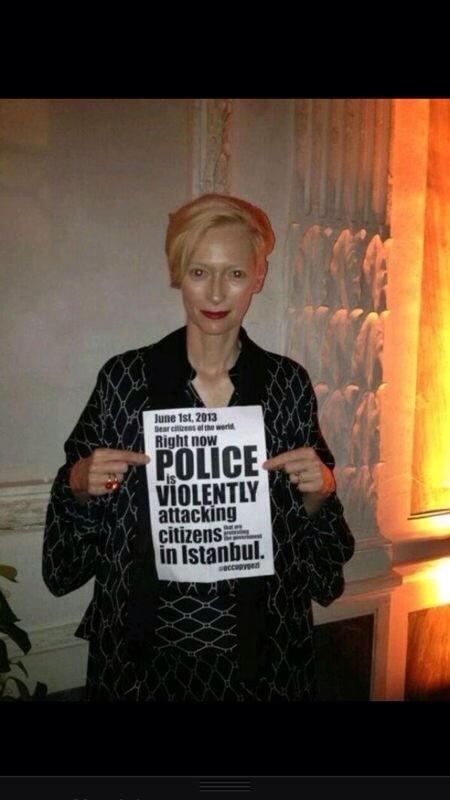 zeyno gunenc (@zeynogunenc): OSKARLI oyuncu Tilda Swintondan ISTANBUL a msj var http://t.co/ocxqGmed3R