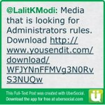 Media that is looking for Administrators rules. Download (cont)