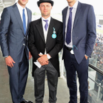 Top day at the races today. No winners all day, plus me and @StuartBroad8 were underdressed alongside Trotty #casual http://t.co/e8XaqJYmY5