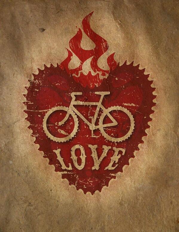 La bici en el corazón. ¡Feliz domingo! #lovecycling #sundayriding http://t.co/AK60DsRbke