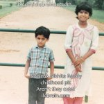 actor @actor_nithiin sweet childhood pic with his sister