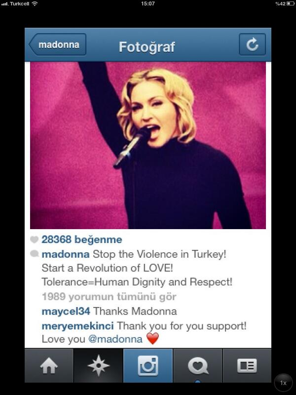 zeyno gunenc (@zeynogunenc): MADONNA da bize mesaj yollamıs vaaaayyy!!!!! http://t.co/nDOHb1gVob