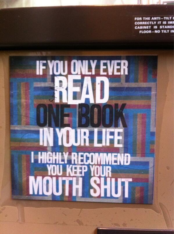 If you only ever read one book... http://t.co/gJ4Hzg7r9H