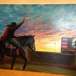 "Just got my ""Suns up, Guns up"" painting finished for my office!! Incredible work by my friend Dave Grizzle. http://t.co/beUyq8P75f"