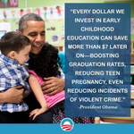 Success for the next generation starts with early education. Every child deserves a strong start. #PreKForAll
