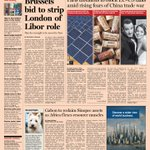 Front page of the Financial Times UK  - 6, June 2013
