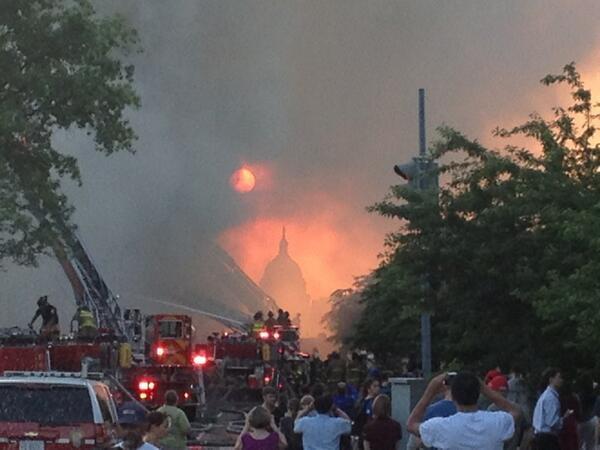 RT @alanblinder: Whoa. RT @Dizzyluv25: Chilling RT @davidsherman84 #dc #fragers #fire http://t.co/35zlCwWZ7I