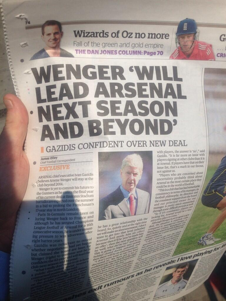 The Tweets as Arsenal get ready to sign Arsene Wenger to a brand new long term contract