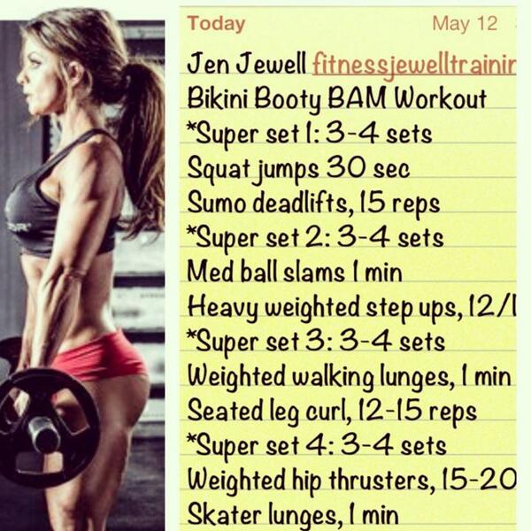 Kinda likin how @fitnessjewell uses the word #BAM in her workout. #Justsayin http://t.co/lQKOKkIszb