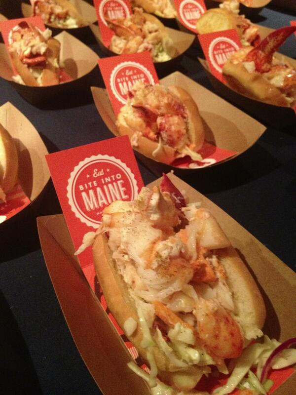 The good people of @BiteIntoMaine start lining up the lobster rolls for VIPs. #LobsterRollRumble #TheMaineThing http://t.co/Nxt5CMNp6C