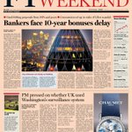 Look at the front page of the Financial Times UK edition - 8 June 2013
