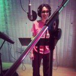 .@michellechamuel flashing a smile in the studio for @nbcthevoice http://t.co/dWd0lQKc2i http://t.co/3rbDMqJO8L