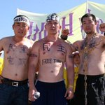 (PHOTOS) Faces of protest at #Sunnylands: http://t.co/MTI2PuO0WQ A human rights message for Obama and Xi Jinping.